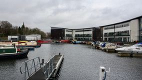 Kirkintilloch: jachthaven Royalty-vrije Stock Afbeeldingen
