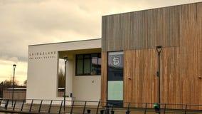 Kirkintilloch: nieuwe Lairdsland-Lage school Stock Afbeeldingen
