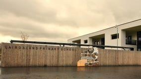 Kirkintilloch: nieuwe Lairdsland-Lage school Stock Foto's