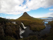 Kirkjufell, the most famous mountain in Iceland Royalty Free Stock Images