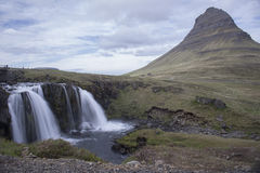 Kirkjufell mountain in Grundarfjordur Royalty Free Stock Photo