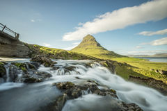 Kirkjufell mountain in Iceland Royalty Free Stock Images