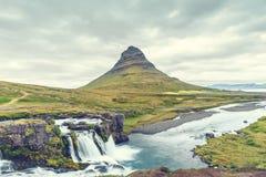 Kirkjufell mountain, Iceland Stock Photos