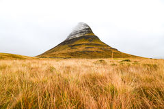 Kirkjufell mountain, natural landmark of Iceland Royalty Free Stock Image