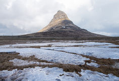 Kirkjufell mountain. This is a photo of  kirkjufell mountain in iceland Royalty Free Stock Photos
