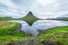 Kirkjufellsfoss - the most beautiful waterfall in Iceland Stock Photos