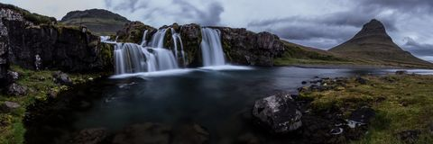 Kirkjufell waterfall Royalty Free Stock Photography