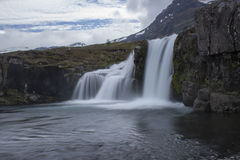 Kirkjufellberg in Grundarfjordur Stock Afbeeldingen