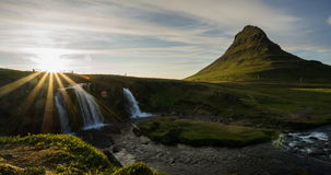Kirkjufellsfoss stock video