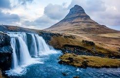 Kirkjufellsfoss IJsland Royalty-vrije Stock Foto's