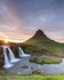 Kirkjufellsfoss waterfal Royalty Free Stock Photo