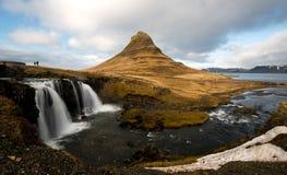 Kirkjufellsfoss waterfalls Stock Photos