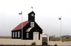 Kirkjuvogskirkja, eine der vielen isländischen Kirchen Lizenzfreie Stockfotos