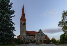 Kirkko de Tuomi Tampere, Finlande Photographie stock