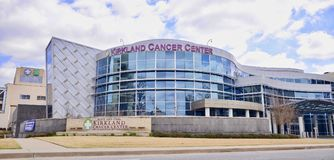 Kirkland Cancer Center, Jackson Tennessee. The Alice and Carl Kirkland Comprehensive Cancer Center and Diagnostic Centers a service of Jackson General Hospital stock images