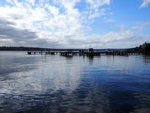 Kirkland Harbor Reflections Fotos de archivo