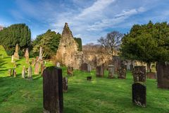 Kirkoswald-Friedhofs-Ayrshire-Rind machte berühmt durch Robert Burns Stockfotos