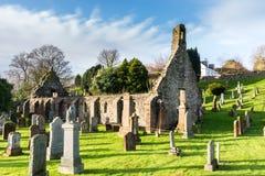 Kirkoswald-Kirche u. Friedhofs-Ayrshire-Rind machten berühmt durch Robert Bur Lizenzfreie Stockfotos