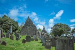 Kirkoswold Kirk Ruins und altes KirkYard im S?dayrshire-rind Schottland lizenzfreie stockfotografie