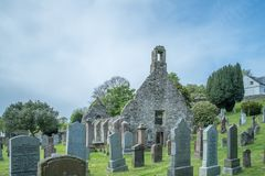 Kirkoswold Kirk Ruins und altes KirkYard im S?dayrshire-rind Schottland stockfoto