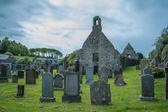 Kirkoswold Kirk Ruins und altes KirkYard im S?dayrshire-rind Schottland lizenzfreies stockfoto