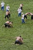 Kirkpinar greased wrestling Stock Images
