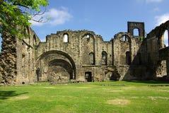 Kirkstall修道院,利兹,英国 库存照片