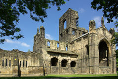 Kirkstall Abbey, Leeds, Britain. LEEDS, YORKSHIRE, UK - June 6, 2013: Kirkstall Abbey in summer day Royalty Free Stock Images