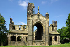 Kirkstall Abbey, Leeds, Britain. LEEDS, YORKSHIRE, UK - June 6, 2013: Kirkstall Abbey in summer day Stock Images