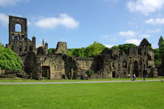 Kirkstall Abbey, Leeds, Britain. LEEDS, YORKSHIRE, UK - June 6, 2013: Kirkstall Abbey in summer day Royalty Free Stock Photography