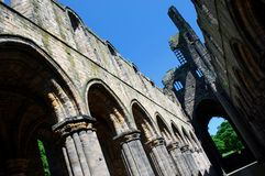 Kirkstall Abbey, Leeds, England. Kirkstall Abbey is a ruined Cistercian monastery in Kirkstall north-west of Leeds city centre in West Yorkshire, England. It is Royalty Free Stock Images