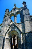 Kirkstall Abbey, Leeds, England. Kirkstall Abbey is a ruined Cistercian monastery in Kirkstall north-west of Leeds city centre in West Yorkshire, England. It is Stock Photo