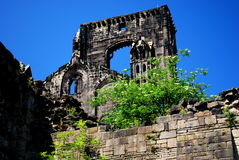 Kirkstall Abbey, Leeds, England. Kirkstall Abbey is a ruined Cistercian monastery in Kirkstall north-west of Leeds city centre in West Yorkshire, England. It is Royalty Free Stock Image