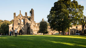 Kirkstall Abbey & x28;Leeds& x29;. Kirkstall Abbey in Leeds on a summer& x27;s day Royalty Free Stock Photo