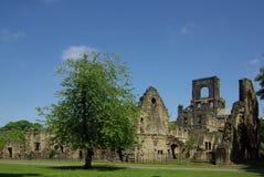 Kirkstall Abbey, Leeds, UK. LEEDS, YORKSHIRE, UK - June 6, 2013: Kirkstall Abbey in summer day Royalty Free Stock Images