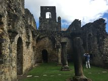 Kirkstall Abbey in Leeds. Kirkstall Abbey is a ruined Cistercian monastery in Kirkstall, north-west of Leeds city centre in West Yorkshire, England. It is set Stock Photo