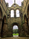 Kirkstall Abbey ruined Cistercian monastery in Kirkstall, north-west of Leeds city centre in West Yorkshire. Kirkstall Abbey is a ruined Cistercian monastery in stock photo