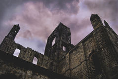 Kirkstall Abbey, uk. Stock Photo