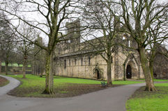 Kirkstall Abbey. Winter shot through the trees of Medieval Kirkstall Abbey in Leeds, United Kingdom Stock Photos