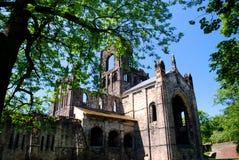 Kirkstall abbotskloster, Leeds, England Arkivfoton