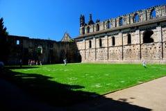 Kirkstall abbotskloster, Leeds, England Royaltyfria Bilder