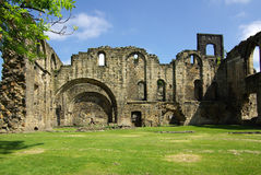 Kirkstall abbotskloster, Leeds, UK Arkivfoto