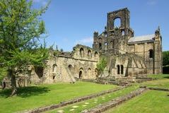 Kirkstall abbotskloster, Leeds, UK Arkivfoton