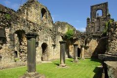 Kirkstall abbotskloster, Leeds, UK Arkivbilder