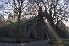 kirkstall leeds аббатства западный - yorkshire Стоковое Изображение RF