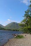 Kirkstone-Durchlauf, rote Gerölle, Bruder-Wasser Cumbria Lizenzfreie Stockbilder