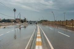 Kirkuk miasto po deszczu zdjęcia royalty free
