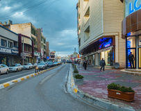 Kirkuk miasto po deszczu obraz royalty free