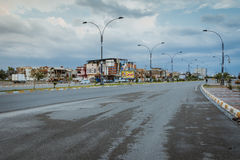 Kirkuk miasto po deszczu fotografia stock