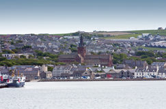 Kirkwall. Panoramic view to the city of Kirkwall, Scotland Stock Photography